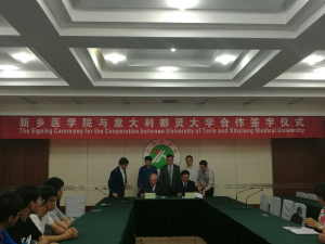 PR China, Xinxiang University (Henan Province) Agreement to settle an University Campus and an International Course on Traditional Medicine, Psychiatry and Non Conventional Therapies